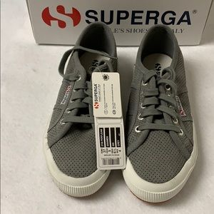 Superga GREY Suede Sneakers Size 6.5